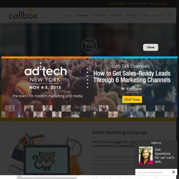 Email Marketing Campaign - callboxinc.com.au - B2B Lead Generation and Appointment Setting