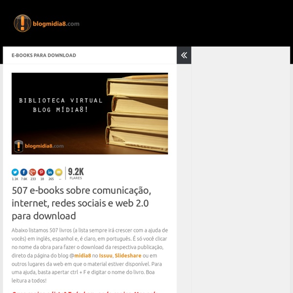Blog @midia8: 318 livros sobre redes sociais, comunicação e web 2.0 para download