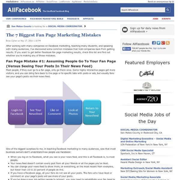 The 7 Biggest Fan Page Marketing Mistakes