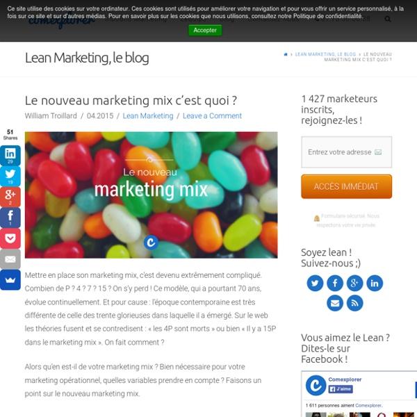 Marketing mix c'est quoi ?