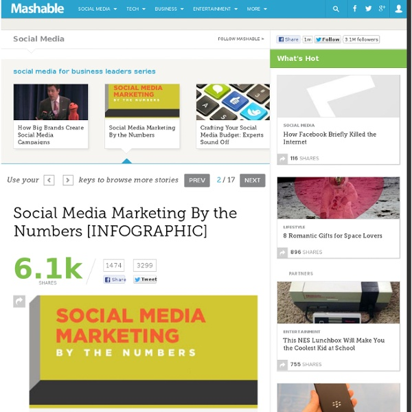 Social Media Marketing By the Numbers [INFOGRAPHIC]