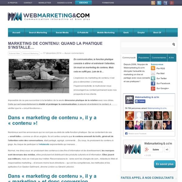 Marketing de contenu: quand la phatique s'installe...