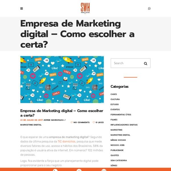 Empresa de Marketing Digital - Sensorial Planejamento Online