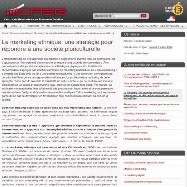 Le marketing ethnique, une stratégie pour répondre à une société pluriculturelle