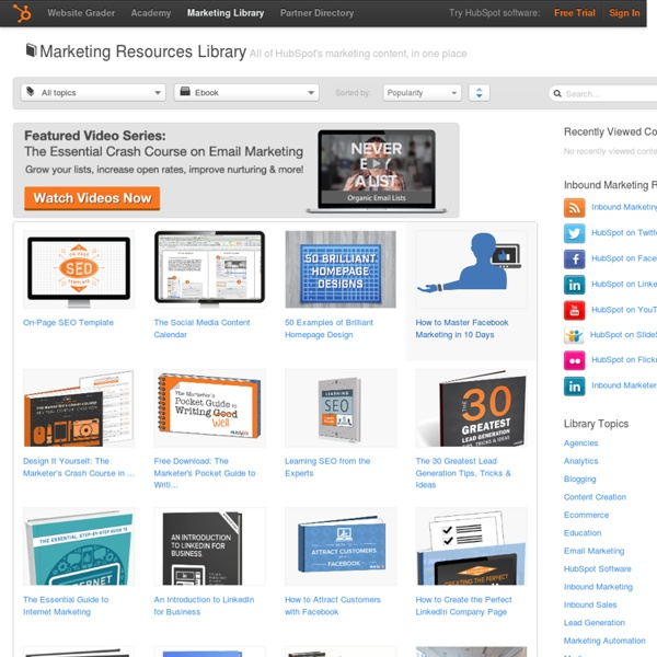 Marketing Whitepapers & eBooks