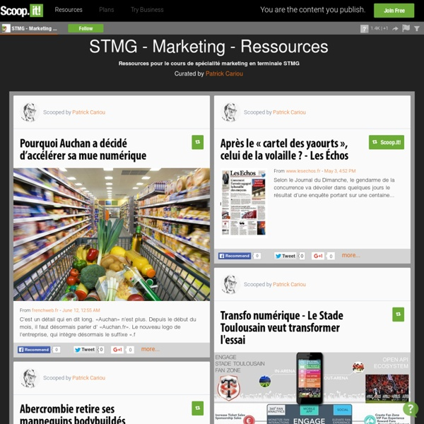 STMG - Marketing - Ressources