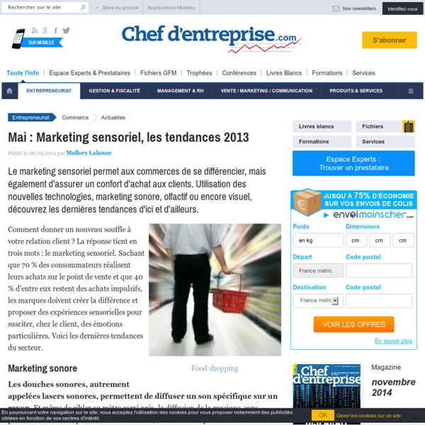 Mai : Marketing sensoriel, les tendances 2013