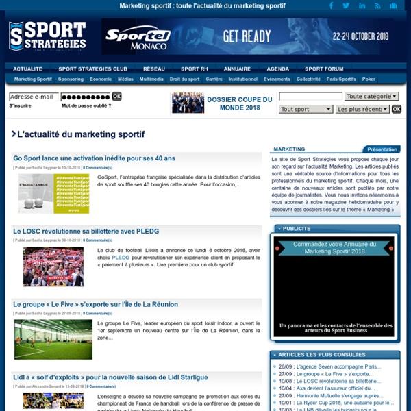 Marketing sportif : toute l'actualité du marketing sportif