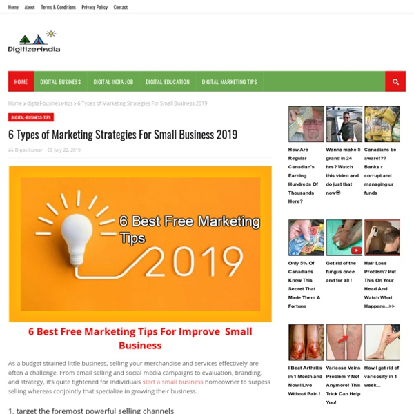 6 Types of Marketing Strategies For Small Business 2019