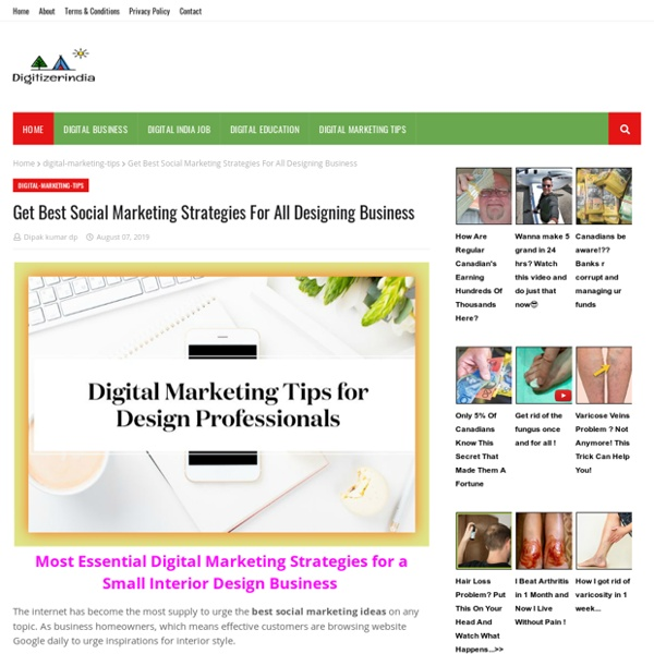 Get Best Social Marketing Strategies For All Designing Business
