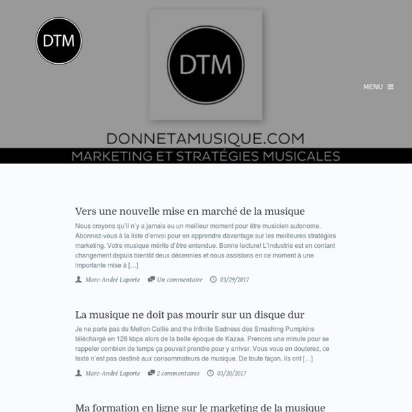 Stratégies Musicales 2.0, Donnetamusique.com