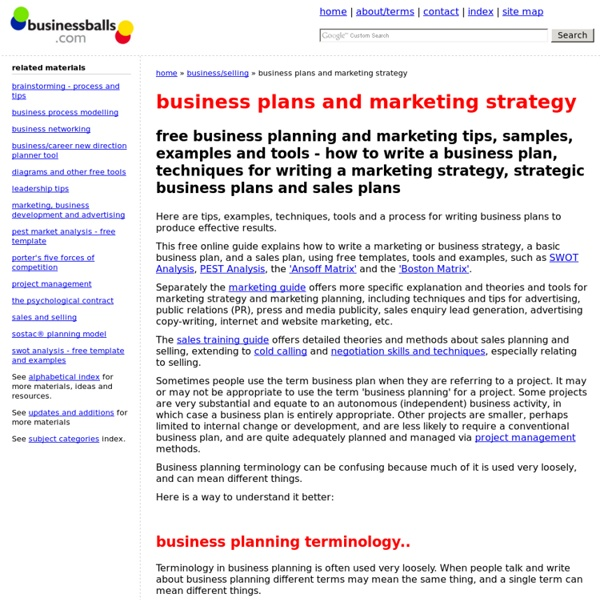How To Write A Business Plan, Sales Plans, Marketing Strategy