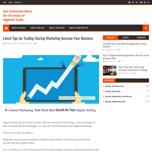 Latest Tips for Trading Startup Marketing Increase Your Business