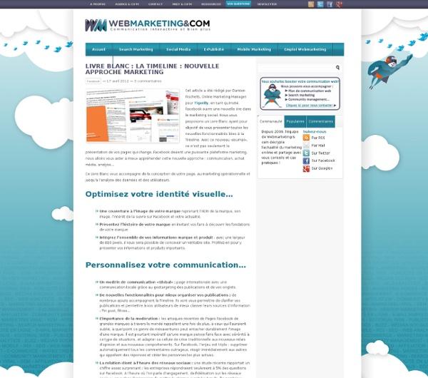 Livre Blanc : La Timeline : nouvelle approche marketing