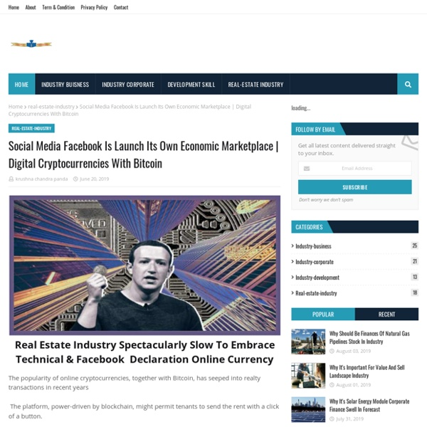 Social Media Facebook Is Launch Its Own Economic Marketplace