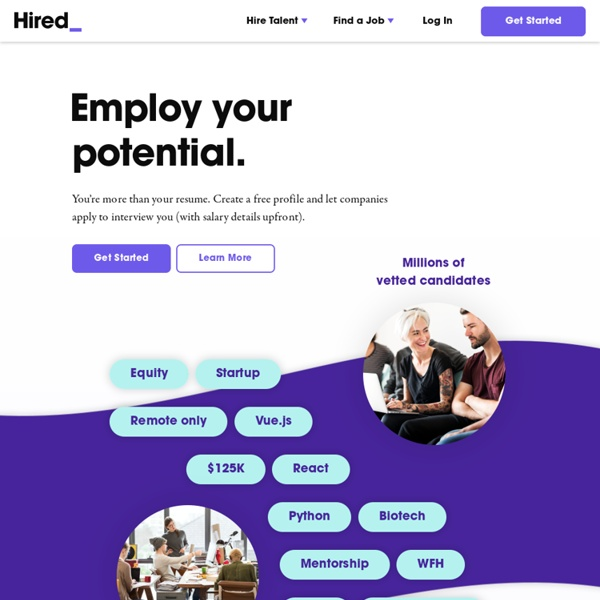 Hired - Marketplace for Recruiting Startup & Tech Talent