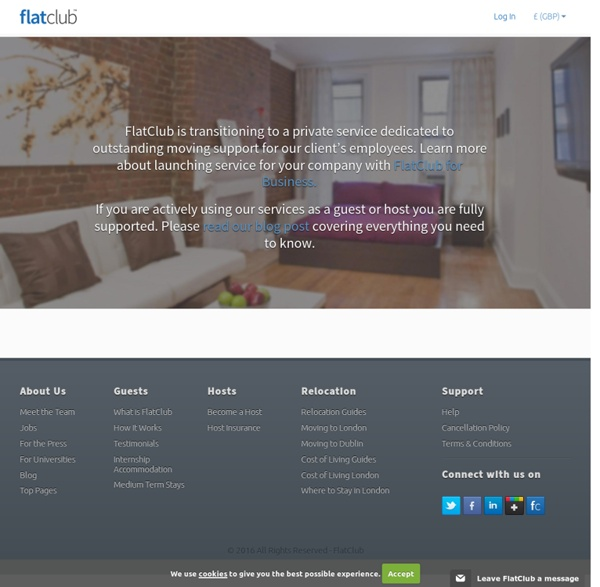 Flat-Club - Short term renting within social networks