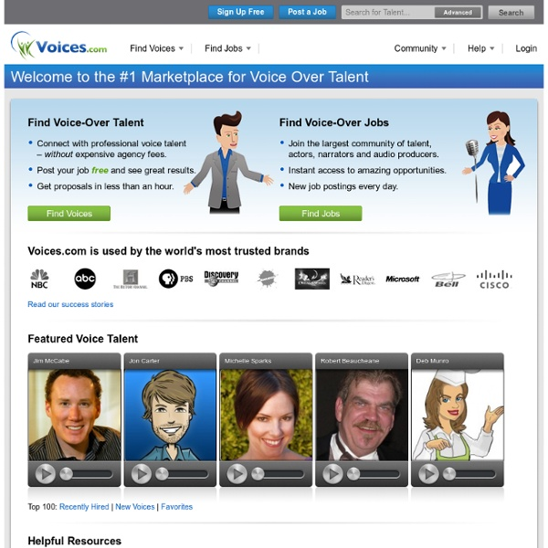 #1 Voice Over Marketplace for Voice Talent