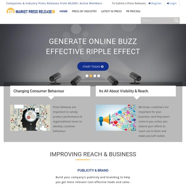 Online Press Release Distribution Service Network - Submit Press Releases Online - MarketPressRelease