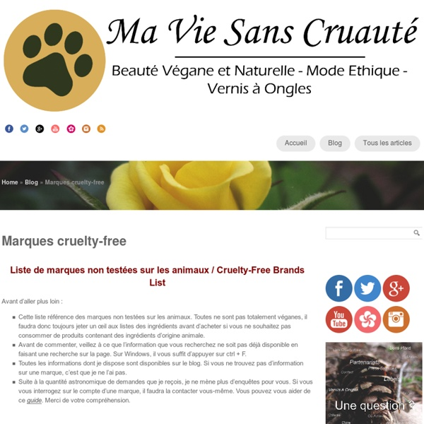 Marques cruelty-free