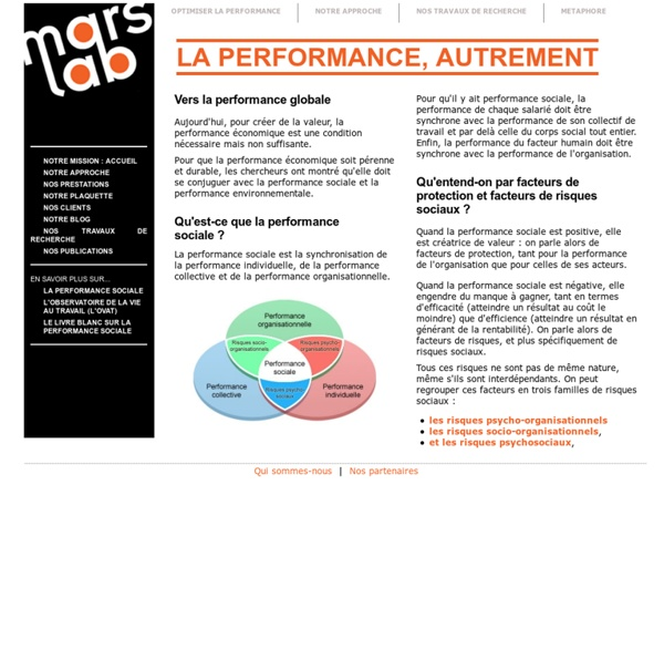 La performance sociale