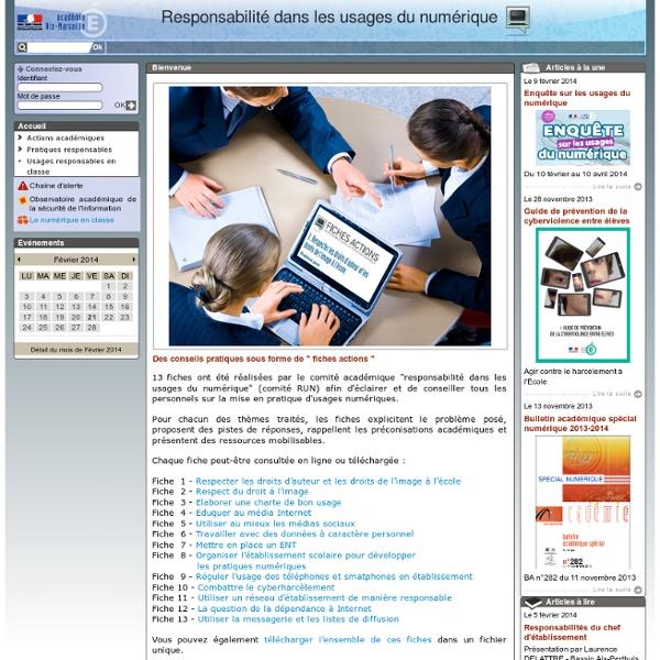 Accueil - Responsabilité dans les usages du numérique