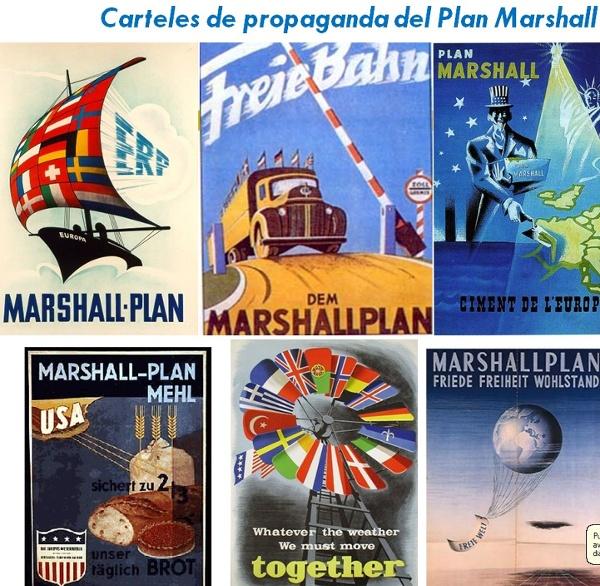 Affiche de propagande sur le plan Marshall
