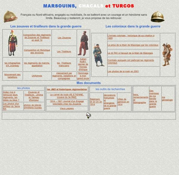 Marsouins, Chacals et Turcos.