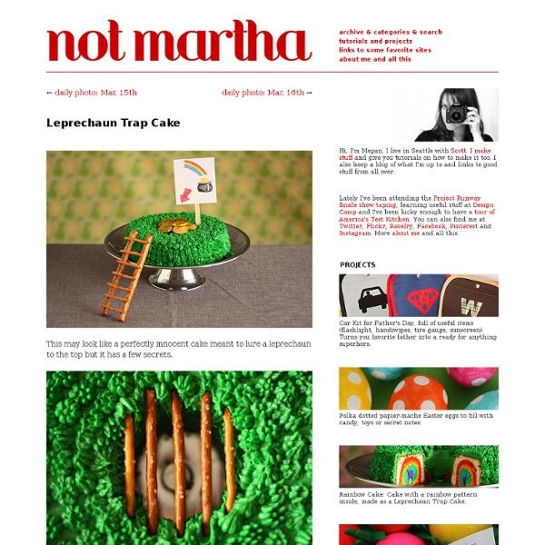 Not martha - Leprechaun Trap Cake