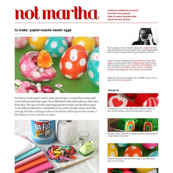 Paper-Mache Easter Egg Treasures