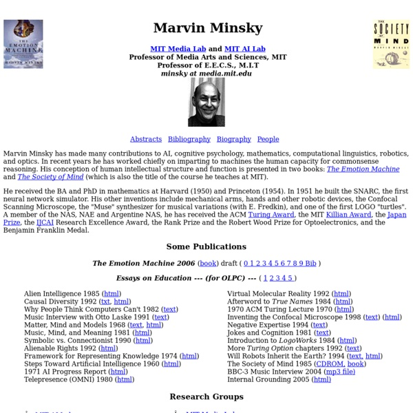 Marvin Minsky's Home Page
