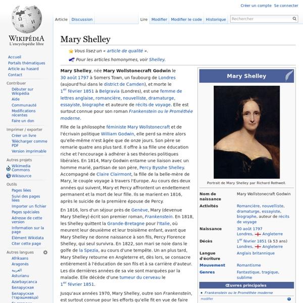 Mary Shelley Wikipédia