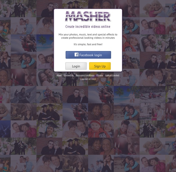 MASHER - create a video online for free