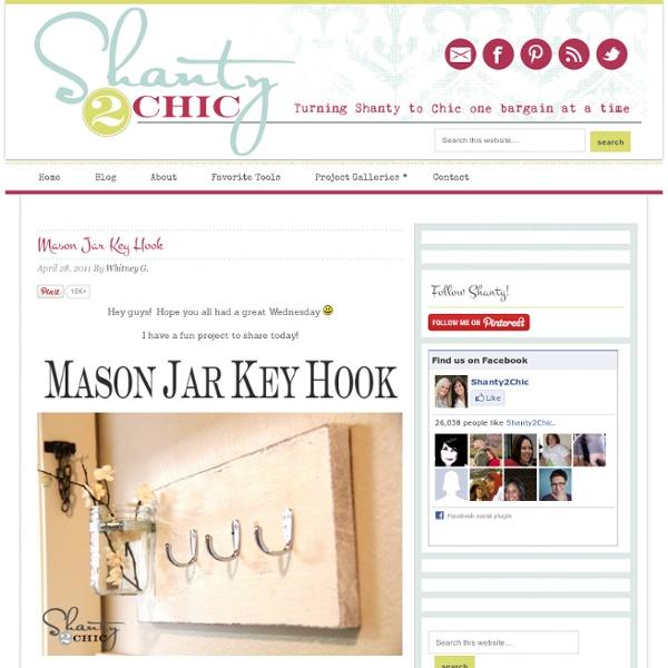 Mason Jar Key Hook