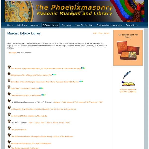 Masonic E-Book Library