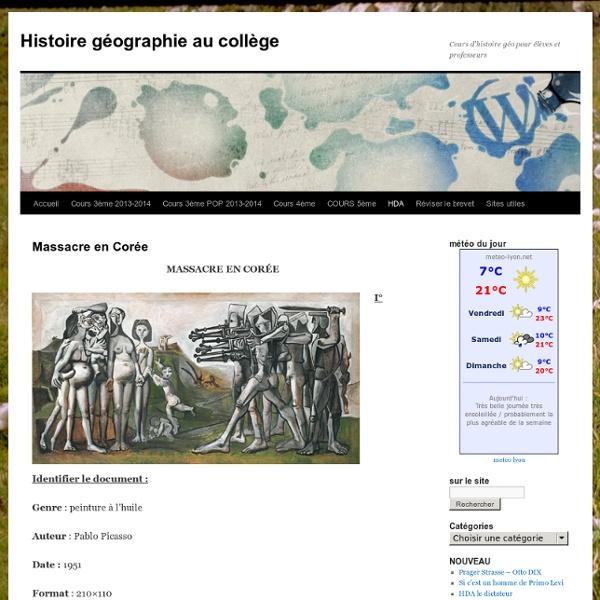 Histoire géographie au collège