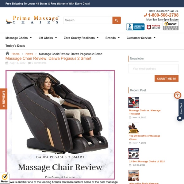 Massage Chair Review: Daiwa Pegasus 2 Smart – Prime Massage Chairs