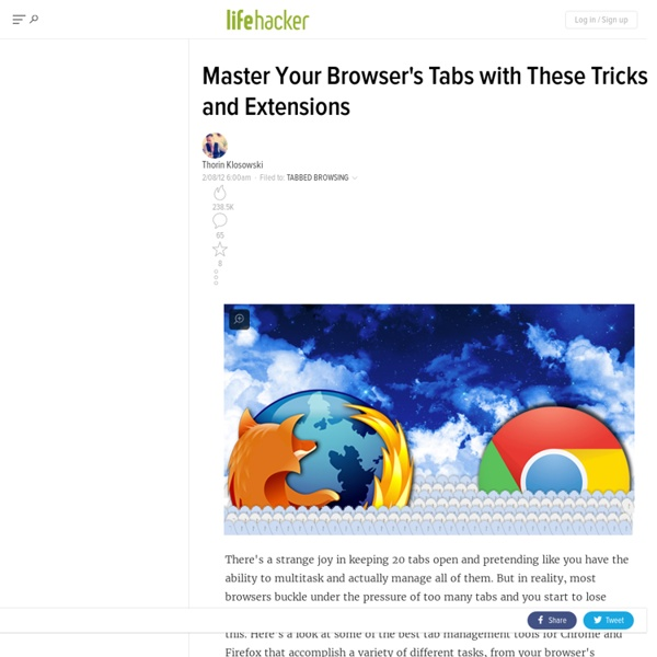 Master Your Browser's Tabs with These Tricks and Extensions | Pearltrees