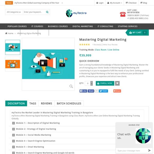 Best Mastering Digital Marketing Training in Bangalore