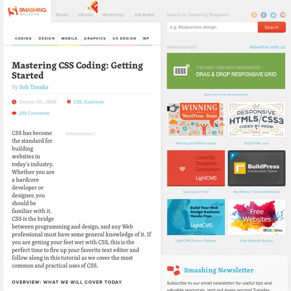 Mastering CSS Coding: Getting Started