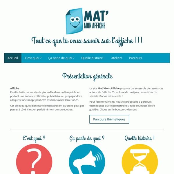Mat'mon Affiche - Site de matmonaffiche !