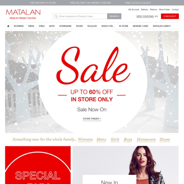 Matalan - Shop women's, men's and children's fashion online - Site - Matalan