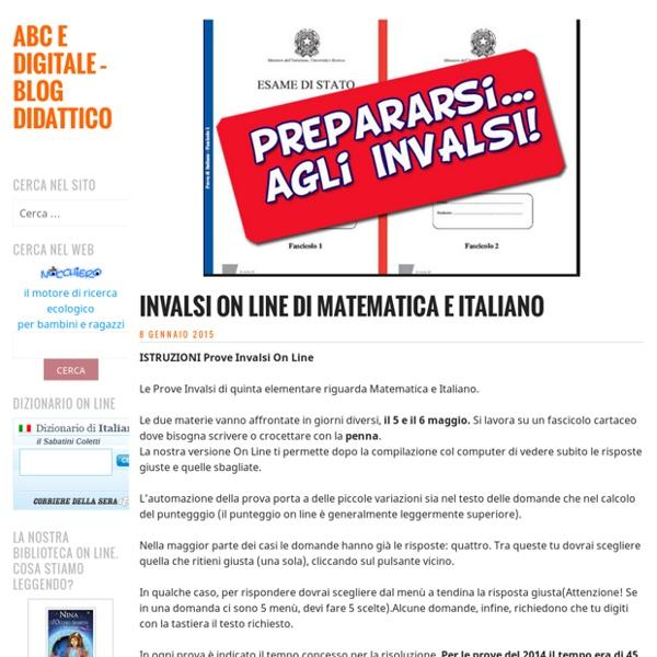 Invalsi On Line di Matematica e Italiano