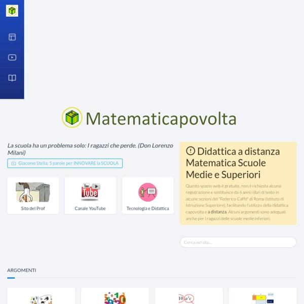 Matematicapovolta: Insegnamento Capovolto della Matematica
