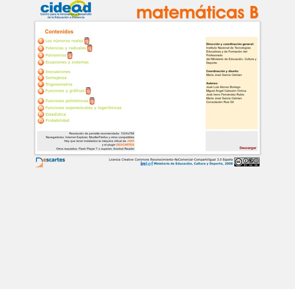 Matemáticas B