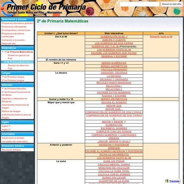 2º de Primaria Matemáticas - MARIANISTAS - PRIMER CICLO