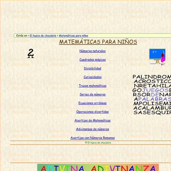 Matemáticas para niños.
