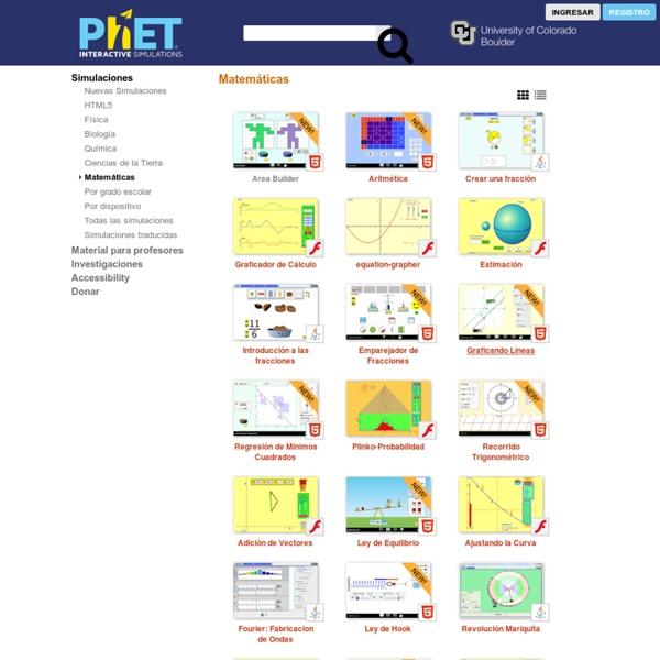 Matemáticas - Simulaciones PhET