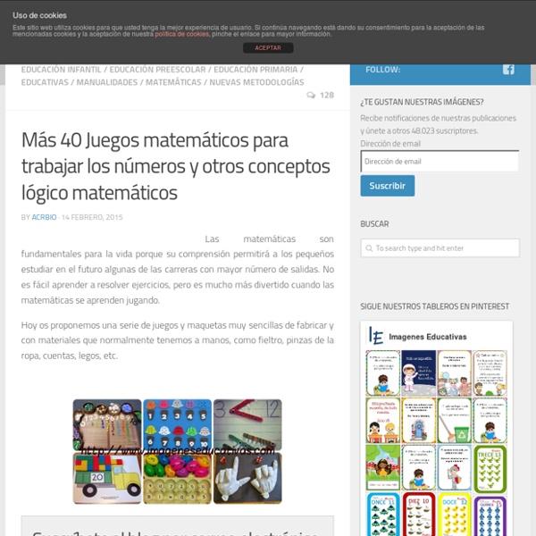 Mas 40 Juegos Matematicos Para Trabajar Los Numeros Y Otros