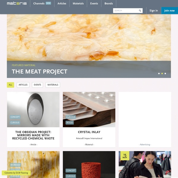 Materia: global network in the area of innovative materials